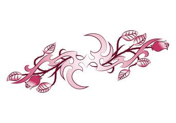 wing ornament flower tattoo