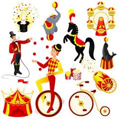 circus set cartoon
