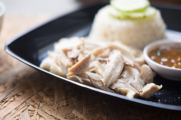 Hainanese chicken rice in Thailand