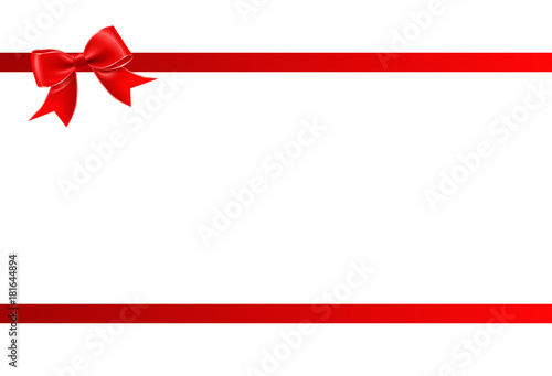 Gift card with red ribbon and a bow gift voucher template with gift card with red ribbon and a bow gift voucher template with place for text pronofoot35fo Choice Image