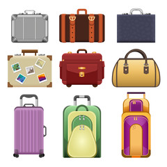 Bags - modern vector realistic isolated set of objects