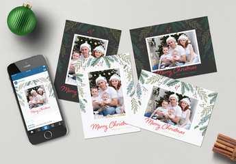 Set of Christmas Photo Greeting Cards 2