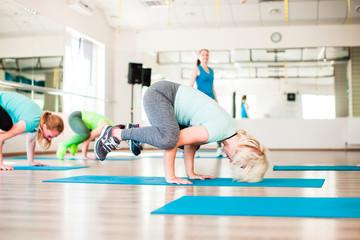 Women's training stretching