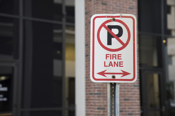 Fire Lane No Parking Sign Outside