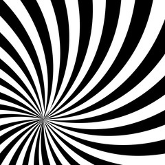 Black and White Sun Sunburst Pattern