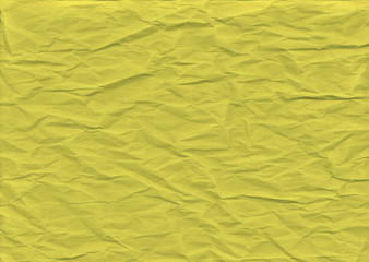 Retro yellow paper folded texture background