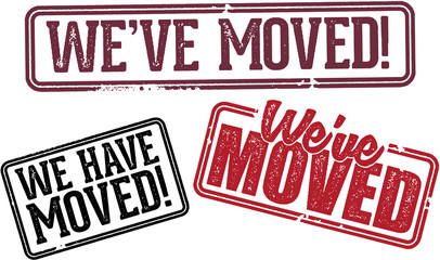 We've Moved Business Relocation Announcement Stamps