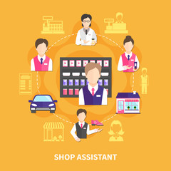 Shop Assistant Round Composition