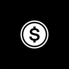 Dollar flat vector icon
