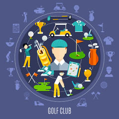 Wall Mural - Golf Club Round Composition