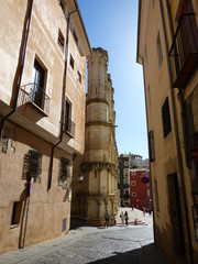 La catedral de Santa María y San Julián de Cuenca, sede de la diócesis en la provincia eclesiástica de Toledo,España