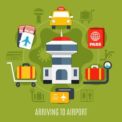 Airport Passenger Service Flat Poster
