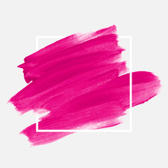 Obraz Logo brush painted watercolor abstract background design illustration vector over square frame. Perfect painted design for headline, logo and sale banner.  - fototapety do salonu