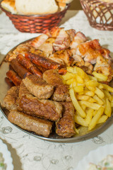 Mixed grill on plate
