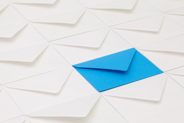Different envelopes on the table