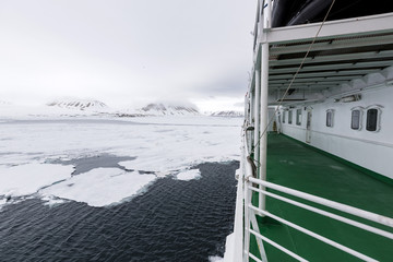Travel in the Arctic with a expedition vessel, Svalbard, Norway