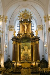 St. Michael's Church interior in Hamburg. Germany