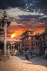 Street of the city of Kadmandu. Nepal. Himalayas