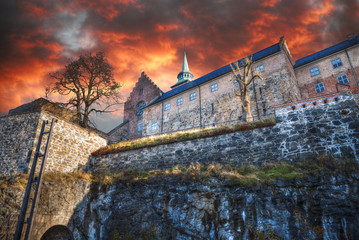 fortress of Akershus - a castle in Oslo