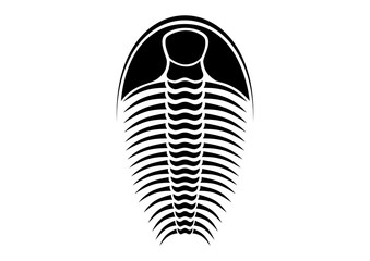 trilobite - black and white vector