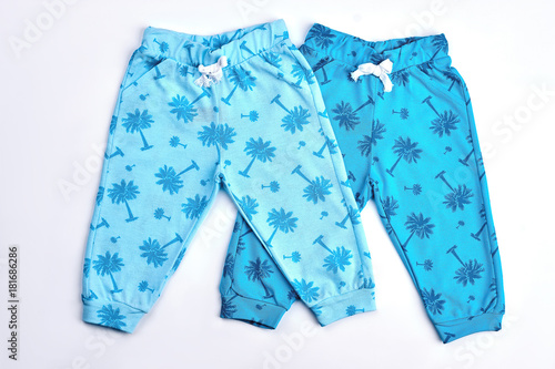 109f92d792fd Toddlers collection of blue patterned trousers. Infant boys and ...