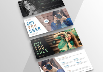 2 Gift Vouchers with Diagonal Photo Layout 1