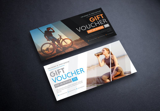 2 Gift Vouchers with Diagonal Photo Layout 2