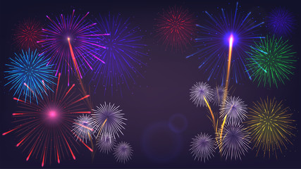 Vector fireworks,template, poster