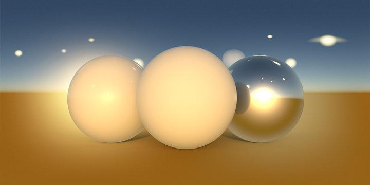 Abstract orange desert planet