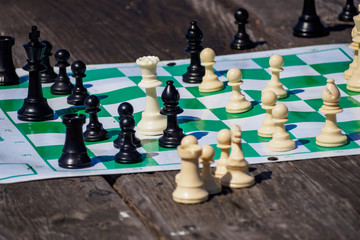 chess pieces outdoor
