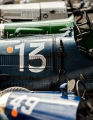 number 13 vintage car