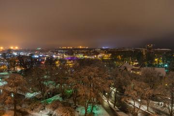 Old city Tallinn Estonia at night