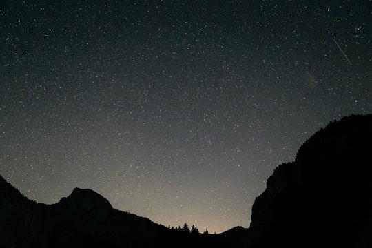 Stars Hanging Over Yosemite Valley