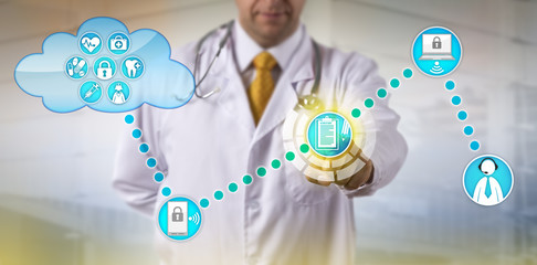 Physician Exchanging Electronic Medical Record