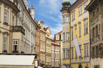 Street at the center of Prague