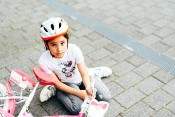 Sturz mit Fahrrad