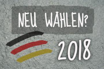 gau, urbano, werbetafel, lifestyle, neuwahlen, 2018, neu, unsicherheit, versus, statement, wahlversprechen, danke, deutschland