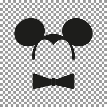 Mouse sticker vector.