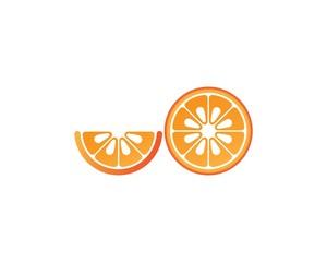 Orange fruit  logo design