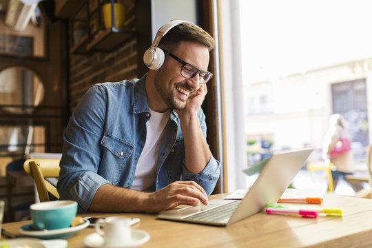 Freelancer using laptop