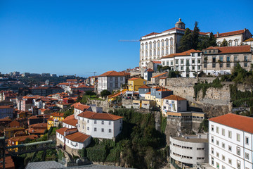 View of the old Porto downtown, Portugal.