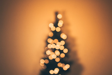 Out of focus bokeh Christmas Tree background