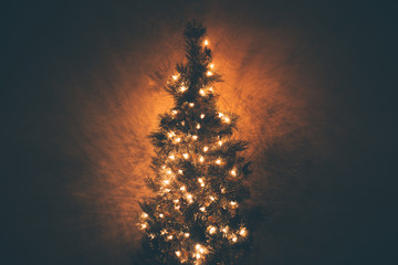 Lit up Christmas Tree background