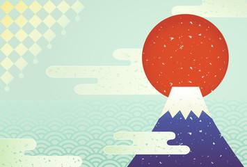 和風 背景 富士山