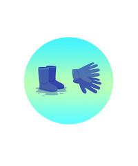 сапоги с перчатками