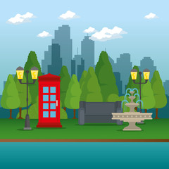 public park in the city vector illustration graphic design