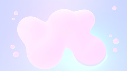 Cartoon glowing pink bubbles. 3d rendering picture.