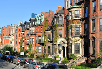 Back Bay Apartment Buildings in Boston, Massachusetts