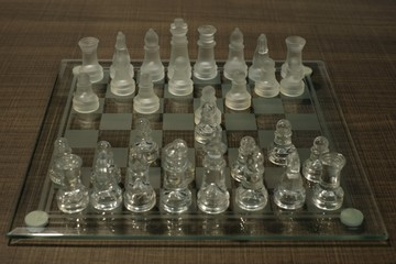 Crystal chess board