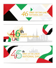 UAE United Arab Emirates independence day, national awakening day, and spirit of the union, United Arab Emirates with flag background red white black green landscape